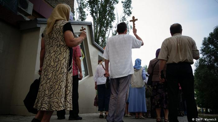 An orthodox procession in the East of Ukraine
