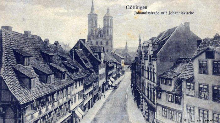 Гёттинген на старой почтовой открытке
