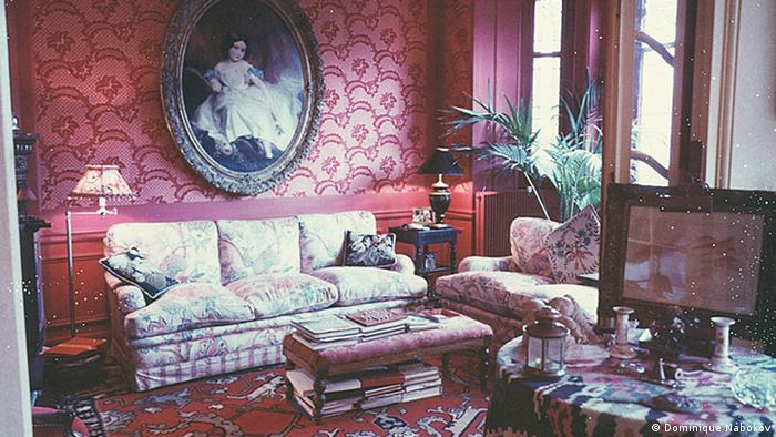 Fanny Ardant's living room in Paris, photographed in 2001, Copyright: Dominique Nabokov