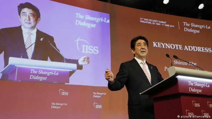 Shinzo Abe auf der Sicherheitskonferenz in Singapur 30.5.2014