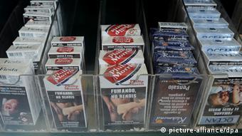 Zigarettenschachteln in Uruguay