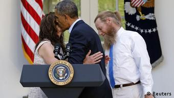 Obama with parents of Bergdahl