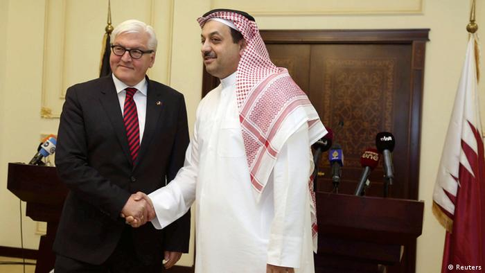 Frank-Walter Steinmeier, pictured in Qatar