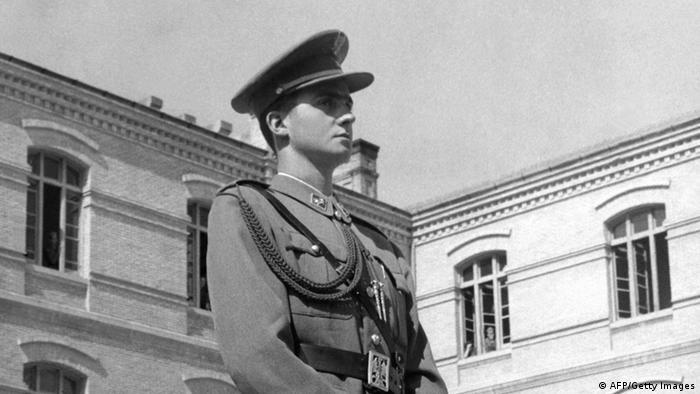 Juan Carlos u vojnoj akademiji u Zaragozi 1955.