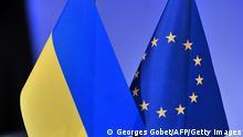 Ukraine EU Flaggen