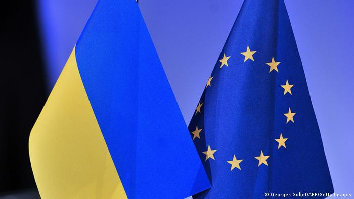 Ukraine EU Flaggen (Georges Gobet/AFP/Getty Images)