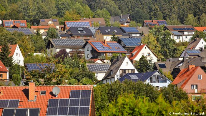 Solar PV systems on houses in Germany