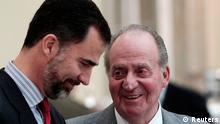 Bildergalerie Abdankung König Juan Carlos mit Kronprinz Felipe 2011
