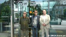 Iranischer Regisseur zu Besuch in der DW (Bildergalerie): Von links Farhad Tohidi, Shahram Mokri, Siamak Poursharif (Juni 2014); Copyright: DW/H.Kermani