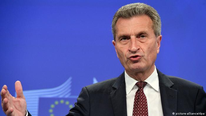 Комиссар ЕС по энергетике Гюнтер Эттингер