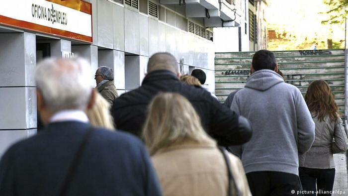 Symbolbild Arbeitslosenquote im Euroraum