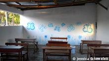 Schulraum der Grundschule in Tofo, Mosambik
