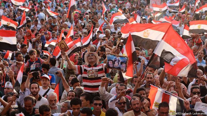Jubel über Wahlsieg al-Sisis auf dem Tahrir-Platz in Kairo (Foto: DW/Elisabeth Lehmann)