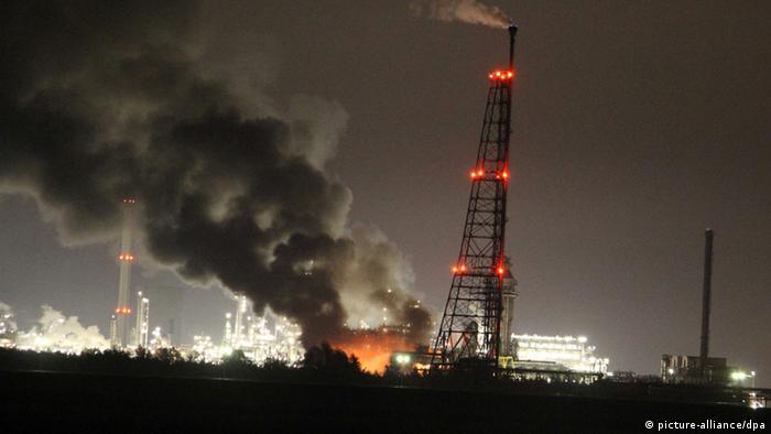 Explosion bei Shell in den Niederlanden
