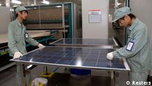 China Solarpanelen Produktion