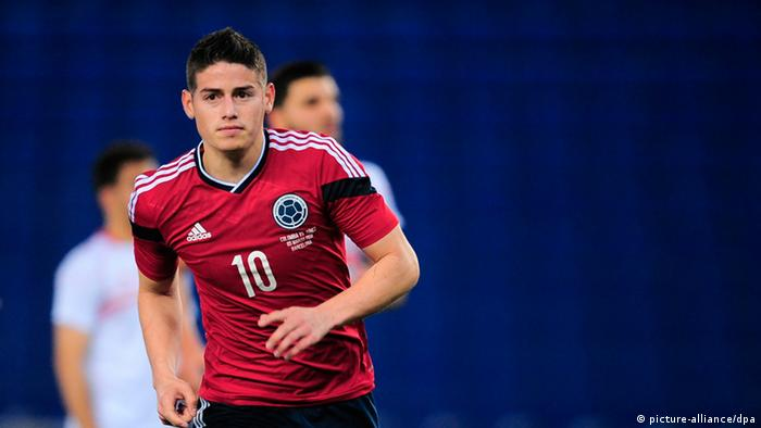 Interaktiver WM-Check 2014 Keyplayer Kolumbien James Rodriguez