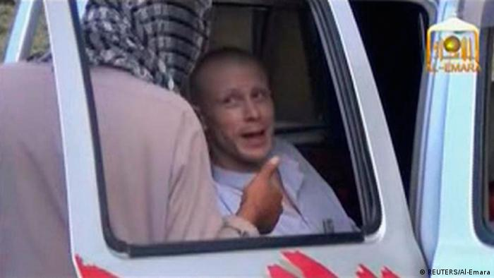 Bowe Bergdahl pictured in car before released to US