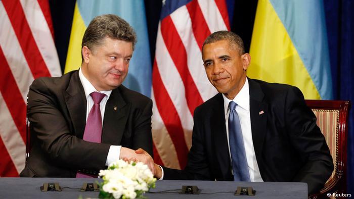 Obama reitera apoio durante encontro com novo presidente da Ucrânia