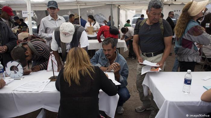 Jobmesse in Mexiko (Foto: Imago)