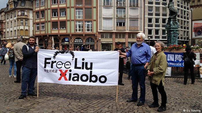 Deutschland China Jahrestag Tiananmen Gedenken in Frankfurt