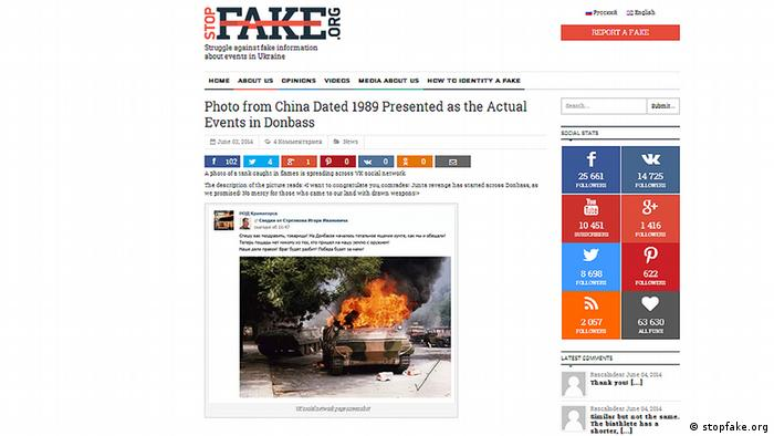 Stopfake.org виявляє сфальшовану інформацію щодо подій в Україні