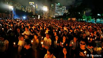 Hong Kong Demonstration Jahrestag Tiananmen-Massaker