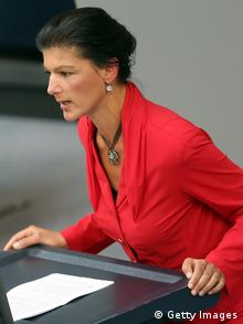 Sahra Wagenknecht am 4.6.2014 im Deutschen Bundestag. Foto: Adam Berry/Getty Images