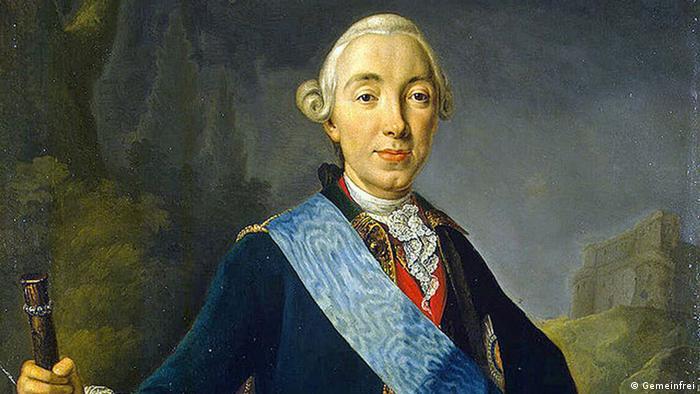 Петр Третий. Портрет работы Лукаса Конрада Пфандцельта (1761)