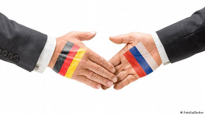Дружба Германии и России. Символическая фотография