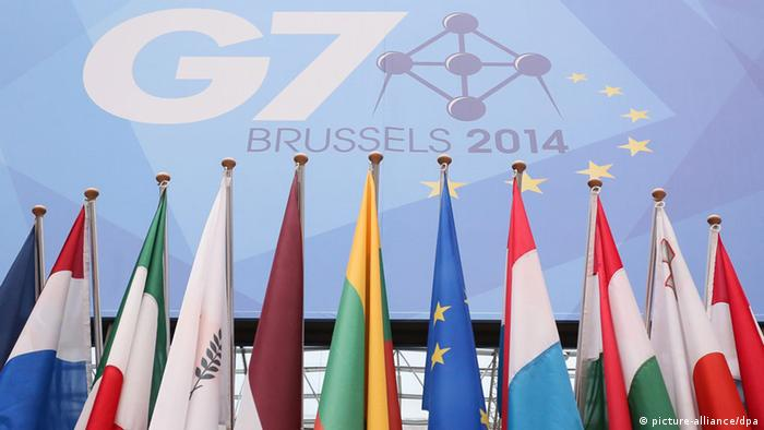 G7 summit and flags