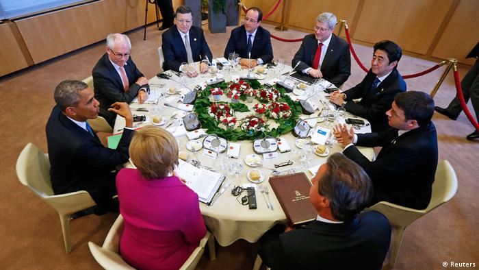 Встреча глав стран большой семерки в Брюсселе, 2014 год