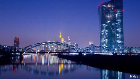 EZB frankfurt nacht main