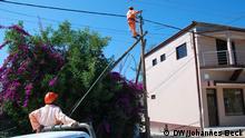 Reparatur Stromleitungen