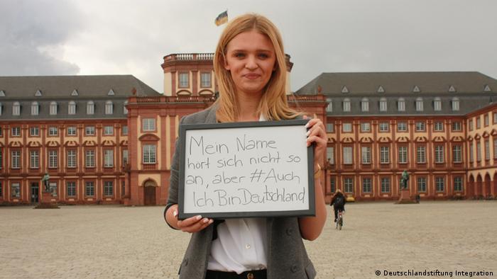 Fotoaktion Auch ich bin Deutschland Anastasia M. aus Mannheim - Copyright: Deutschlandstiftung Integration