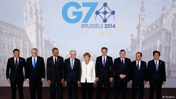 Gruppenfoto G7-Treffen (Foto: rtr)