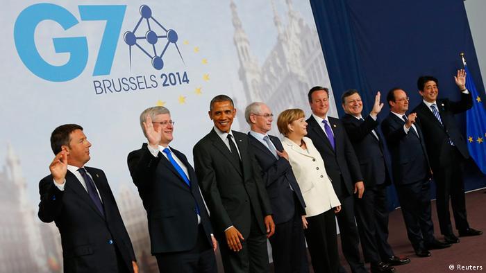 G7 Gipfel Brüssel Gruppenfoto 05.06.2014