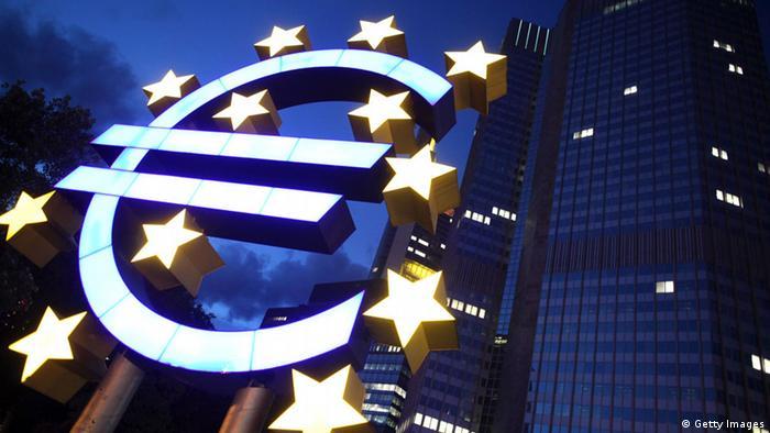 Светящийся знак евро