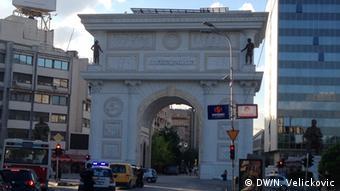 Skopje Bauwut im Stadtzentrum Mai 2014