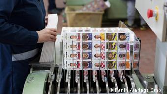 Produktion Panini-Sticker zur WM 2014