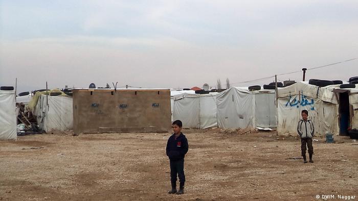 Лагерь сирийских беженцев в долине Бекаа в Ливане