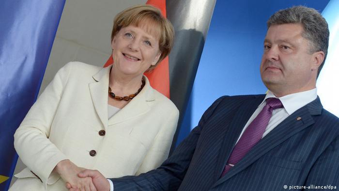 Анґела Меркель та Петро Порошенко під час зустрічі у Берліні