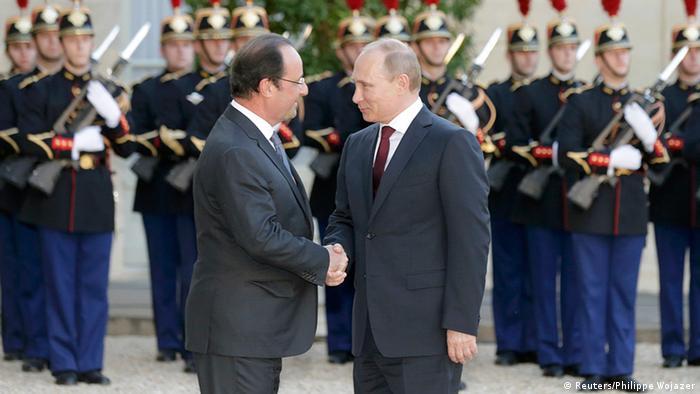 François Hollande und Wladimir Putin 2014