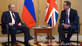 Дэвид Кэмерон и Владимир Путин