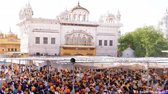 Indien Gedenkveranstaltung in Amritsar Goldener Tempel Kämpfe