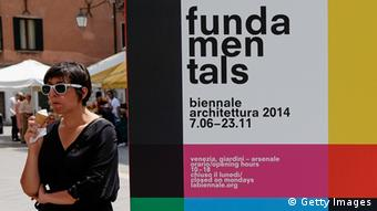 Sign for the fundamentals exhibition at the 2014 Venice Biennale, Copyright: Marco Secchi/Getty Images