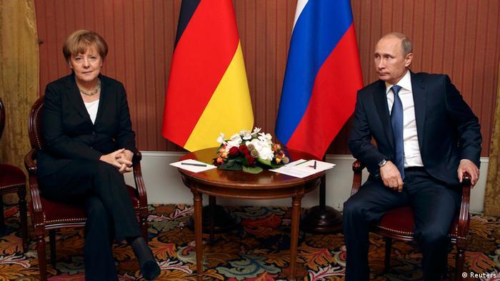 Merkel und Putin 06.06.2014 in Deauville