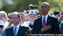 D-Day Feier 06.06.2014 Hollande und Obama