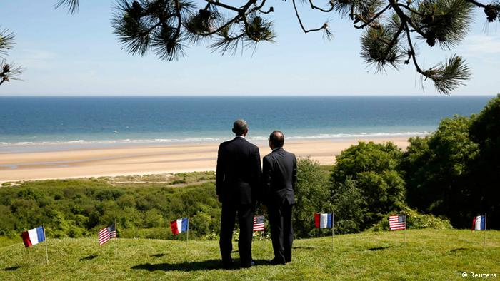 D-Day Feier 06.06.2014 Hollande und Obama