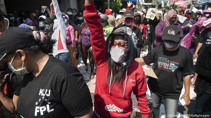 Surabaya Indonesien Demo