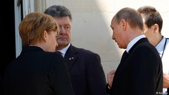 Меркель, Путин и Порошенко